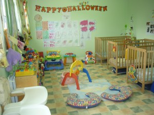 Baby room at Jellystone Creche